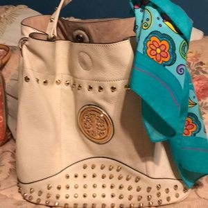 Beautiful cream purse